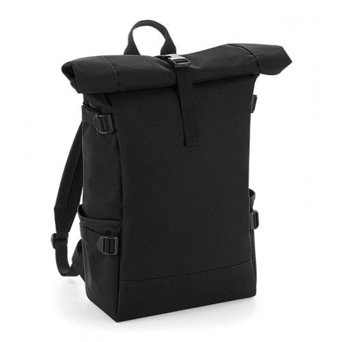 Bag base Block Roll-Top Backpack Black/Black