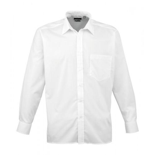 Premier Long Sleeve Poplin Shirt White