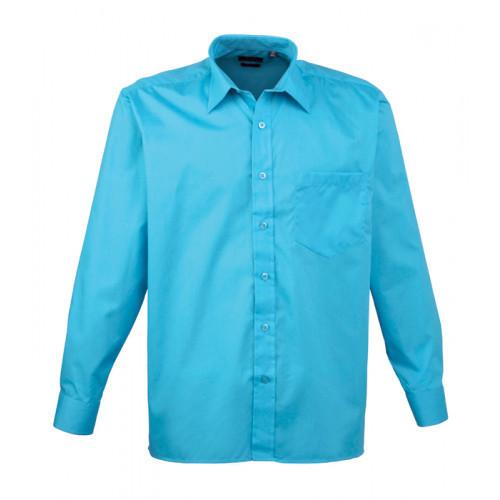Premier Long Sleeve Poplin Shirt Turquoise