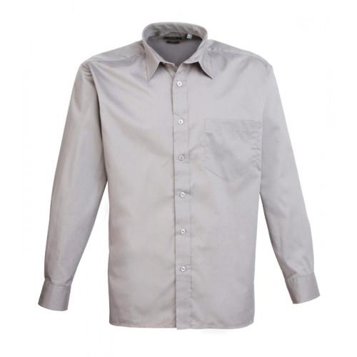 Premier Long Sleeve Poplin Shirt Silver
