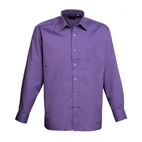 Premier Long Sleeve Poplin Shirt Purple