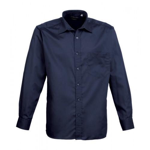Premier Long Sleeve Poplin Shirt Navy
