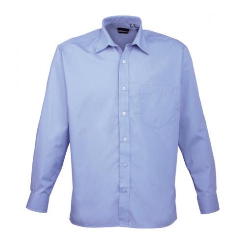 Premier Long Sleeve Poplin Shirt Mid Blue
