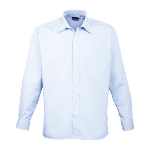 Premier Long Sleeve Poplin Shirt Light Blue