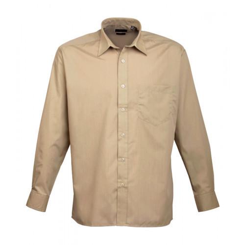 Premier Long Sleeve Poplin Shirt Khaki