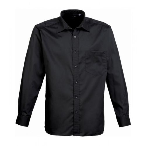 Premier Long Sleeve Poplin Shirt Black