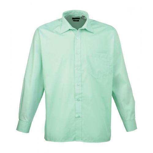 Premier Long Sleeve Poplin Shirt Aqua