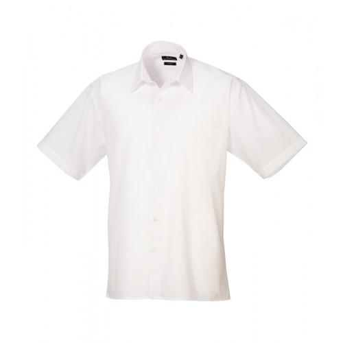 Premier Short Sleeve Poplin Shirt White