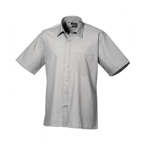 Premier Short Sleeve Poplin Shirt Silver