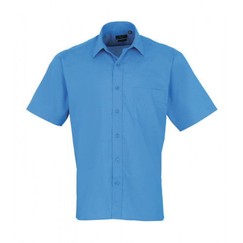 Premier Short Sleeve Poplin Shirt Sapphire