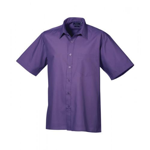 Premier Short Sleeve Poplin Shirt Rich Violet