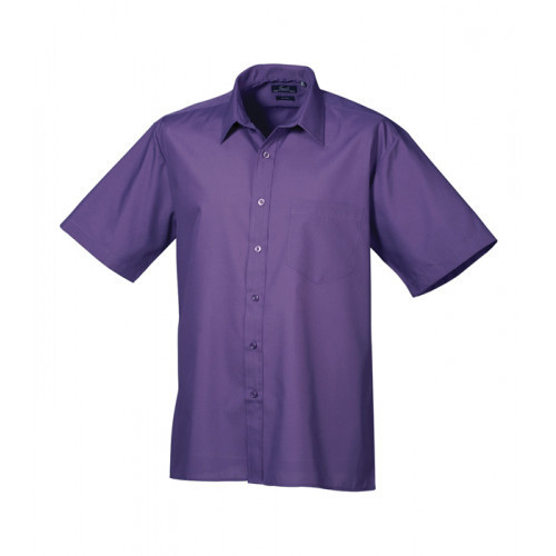 Premier Short Sleeve Poplin Shirt Purple