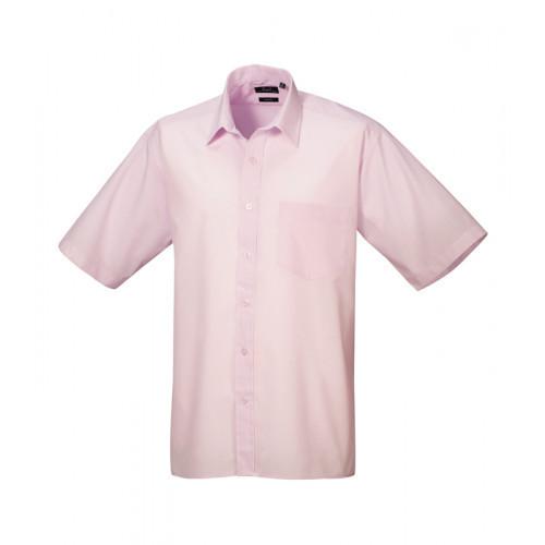 Premier Short Sleeve Poplin Shirt Pink