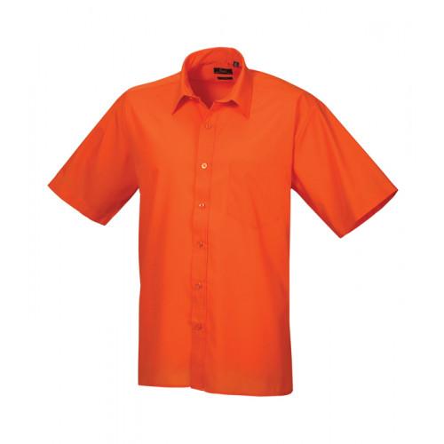 Premier Short Sleeve Poplin Shirt Orange
