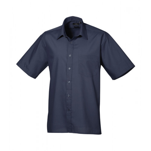 Premier Short Sleeve Poplin Shirt Navy