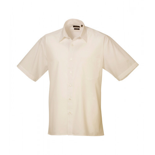 Premier Short Sleeve Poplin Shirt Natural