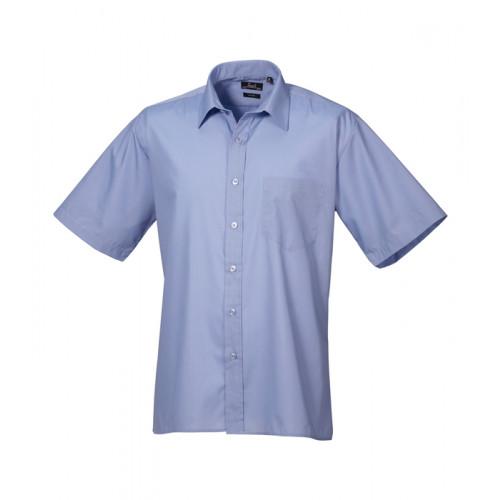 Premier Short Sleeve Poplin Shirt Mid Blue
