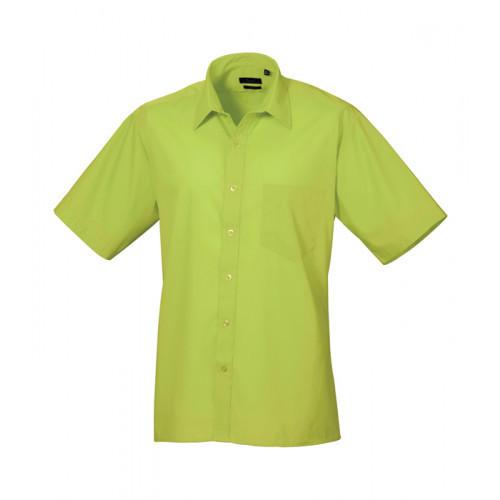 Premier Short Sleeve Poplin Shirt Lime