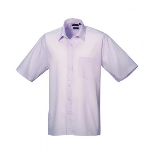 Premier Short Sleeve Poplin Shirt Lilac