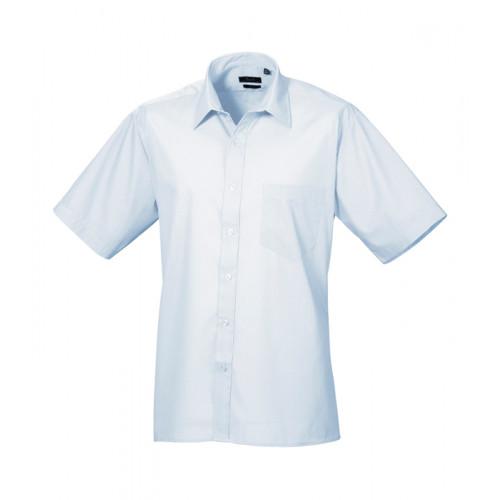 Premier Short Sleeve Poplin Shirt Light Blue