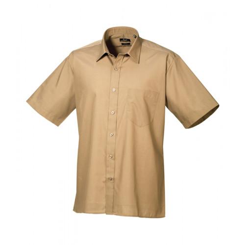 Premier Short Sleeve Poplin Shirt Khaki