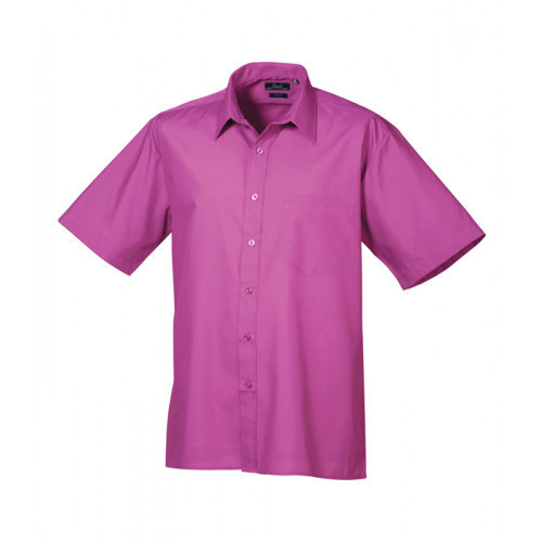 Premier Short Sleeve Poplin Shirt Hot Pink