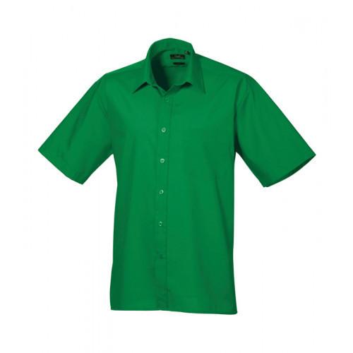 Premier Short Sleeve Poplin Shirt Emerald