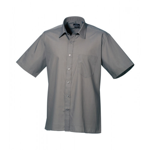 Premier Short Sleeve Poplin Shirt Dark Grey