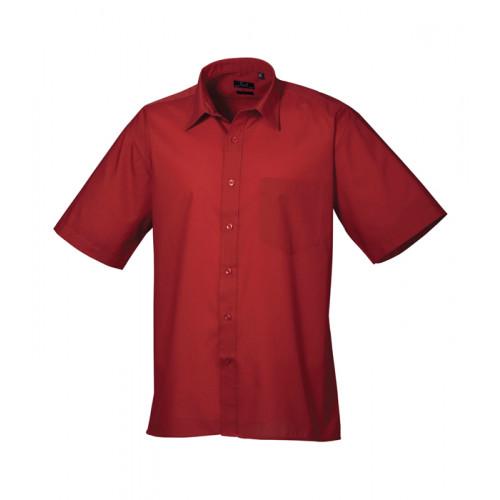 Premier Short Sleeve Poplin Shirt Burgundy