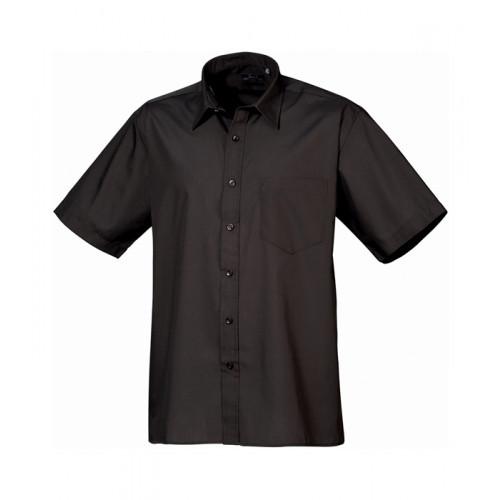 Premier Short Sleeve Poplin Shirt Black