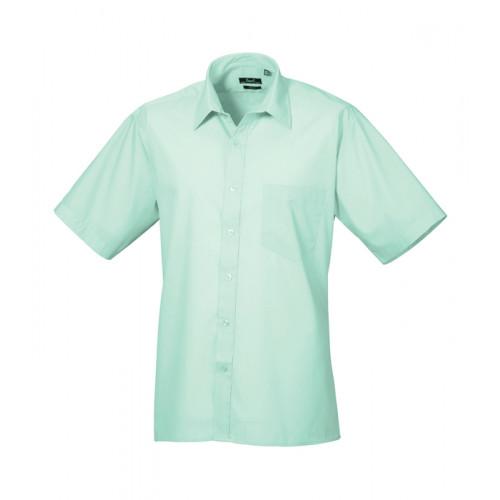 Premier Short Sleeve Poplin Shirt Aqua