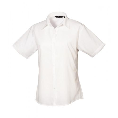 Premier Women´s Poplin Short Sleeve Blouse White