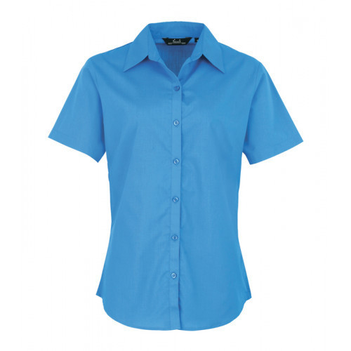 Premier Women´s Poplin Short Sleeve Blouse Sapphire