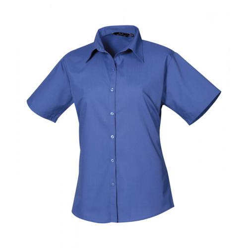 Premier Women´s Poplin Short Sleeve Blouse Royal
