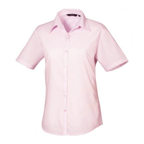 Premier Women´s Poplin Short Sleeve Blouse Pink