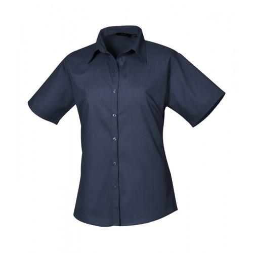 Premier Women´s Poplin Short Sleeve Blouse Navy