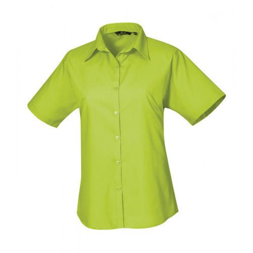 Premier Women´s Poplin Short Sleeve Blouse Lime