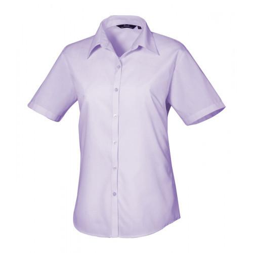 Premier Women´s Poplin Short Sleeve Blouse Lilac