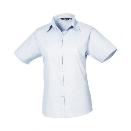 Premier Women´s Poplin Short Sleeve Blouse Light Blue