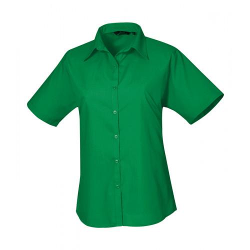 Premier Women´s Poplin Short Sleeve Blouse Emerald