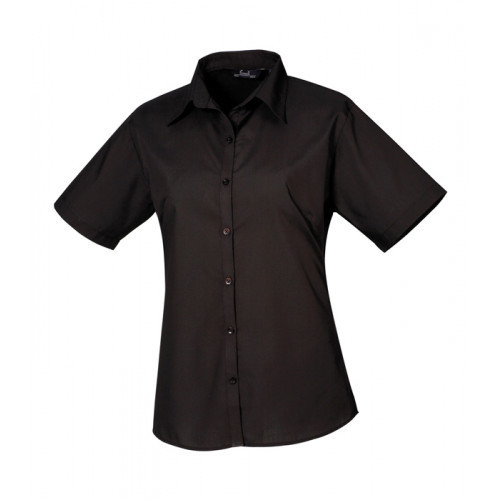 Premier Women´s Poplin Short Sleeve Blouse Black
