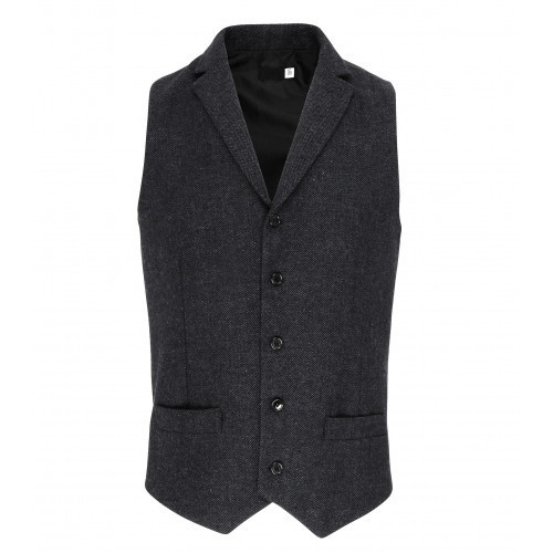 Premier Herringbone Waistcoat Charcoal