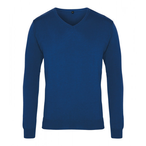 Premier Men´s V-neck Knitted Sweater Royal