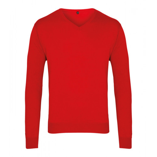 Premier Men´s V-neck Knitted Sweater Red