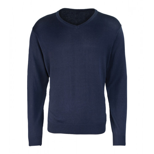 Premier Men´s V-neck Knitted Sweater Navy