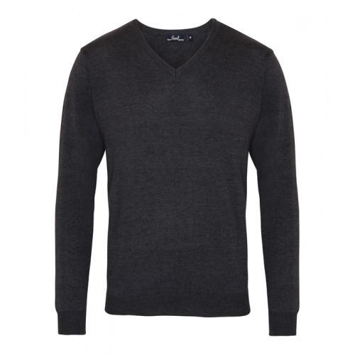 Premier Men´s V-neck Knitted Sweater Charcoal