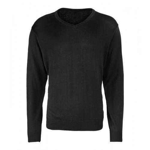 Premier Men´s V-neck Knitted Sweater Black