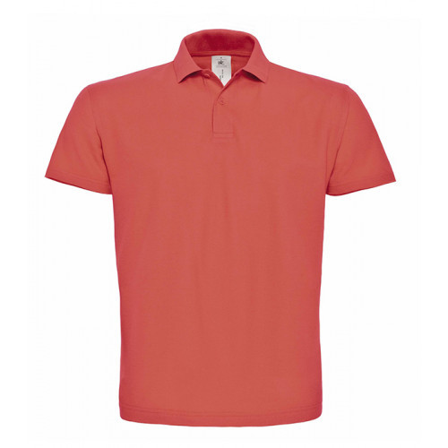 B and C Collection ID.001 Polo PIXEL CORAL