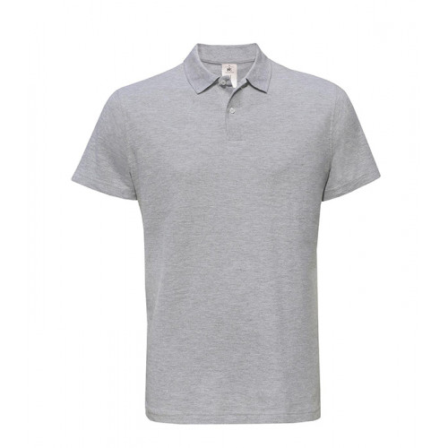 B and C Collection ID.001 Polo HEATHER GREY