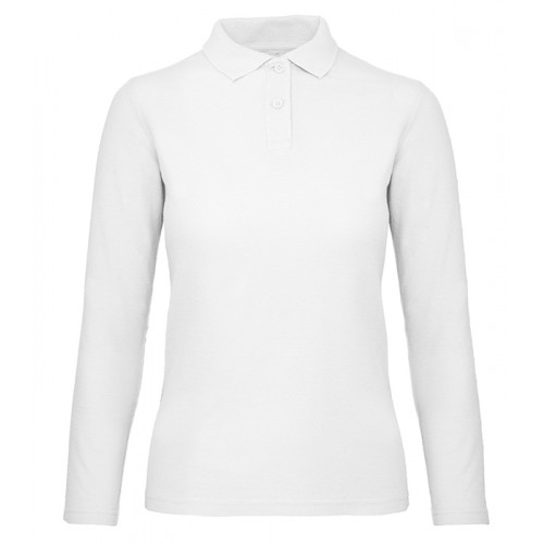 B and C Collection B&C ID.001 LSL Women White